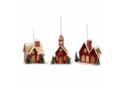 Новогодняя игрушка домик