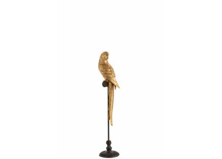 Фигурка попугая в золоте