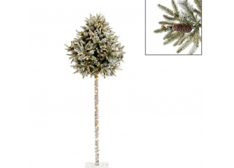 Новогодняя елка с гирляндой